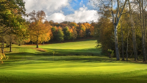 Sandford Springs golf course in autumns