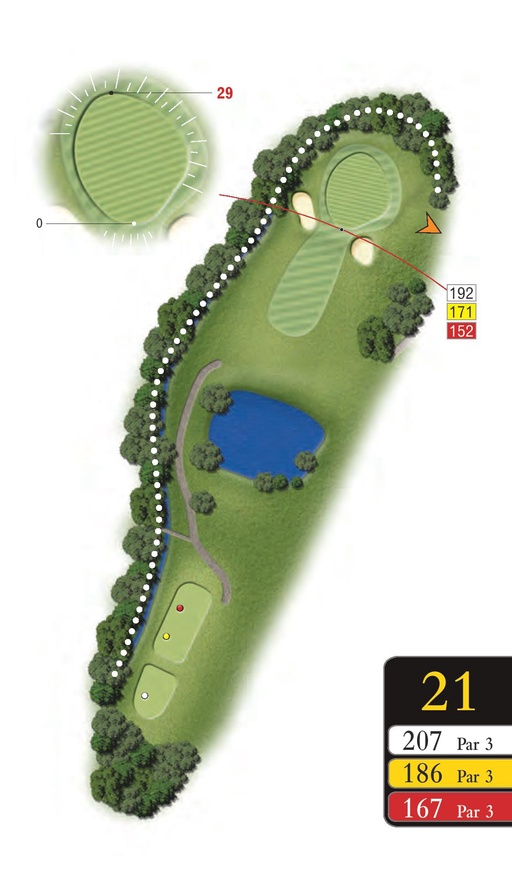 The Lakes - Hole 21 - Sandford Springs