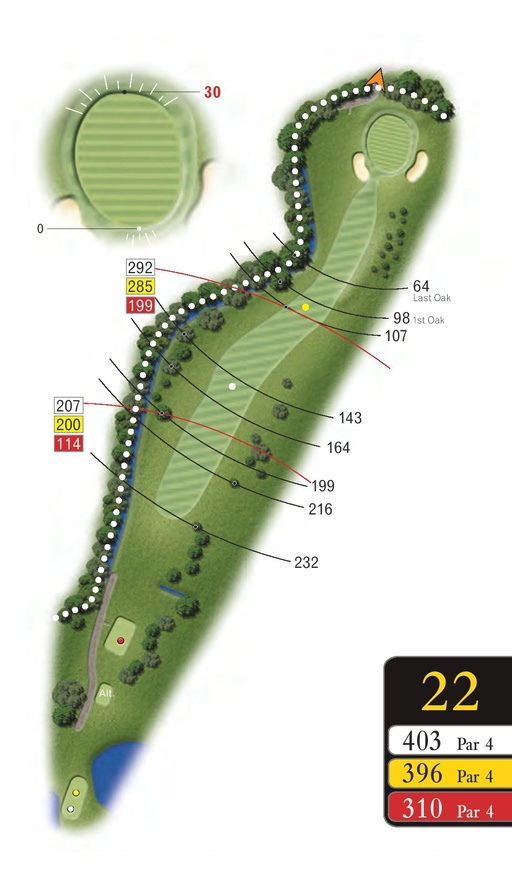 The Lakes - Hole 22 - Sandford Springs