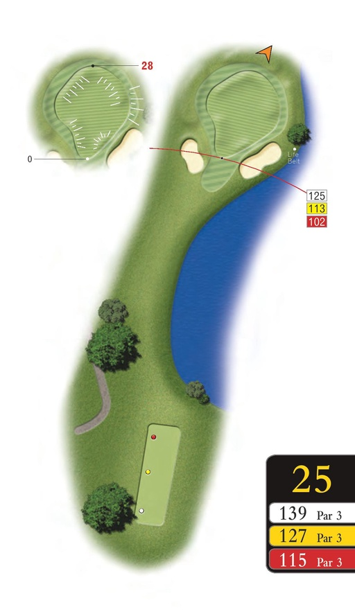 The Lakes - Hole 25 - Sandford Springs